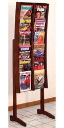 Stance Solid Wood Literature Rack - 12 Pocket by Wooden Mallet